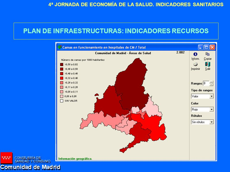 PLAN DE INFRAESTRUCTURAS: INDICADORES RECURSOS
