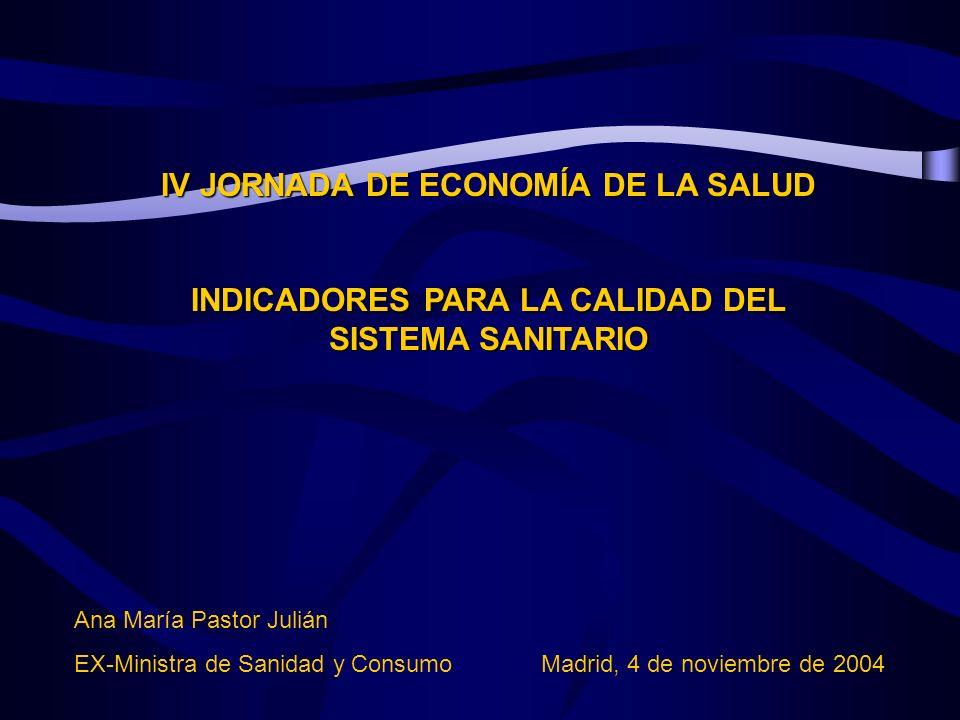 IV JORNADA DE ECONOMÍA DE LA SALUD