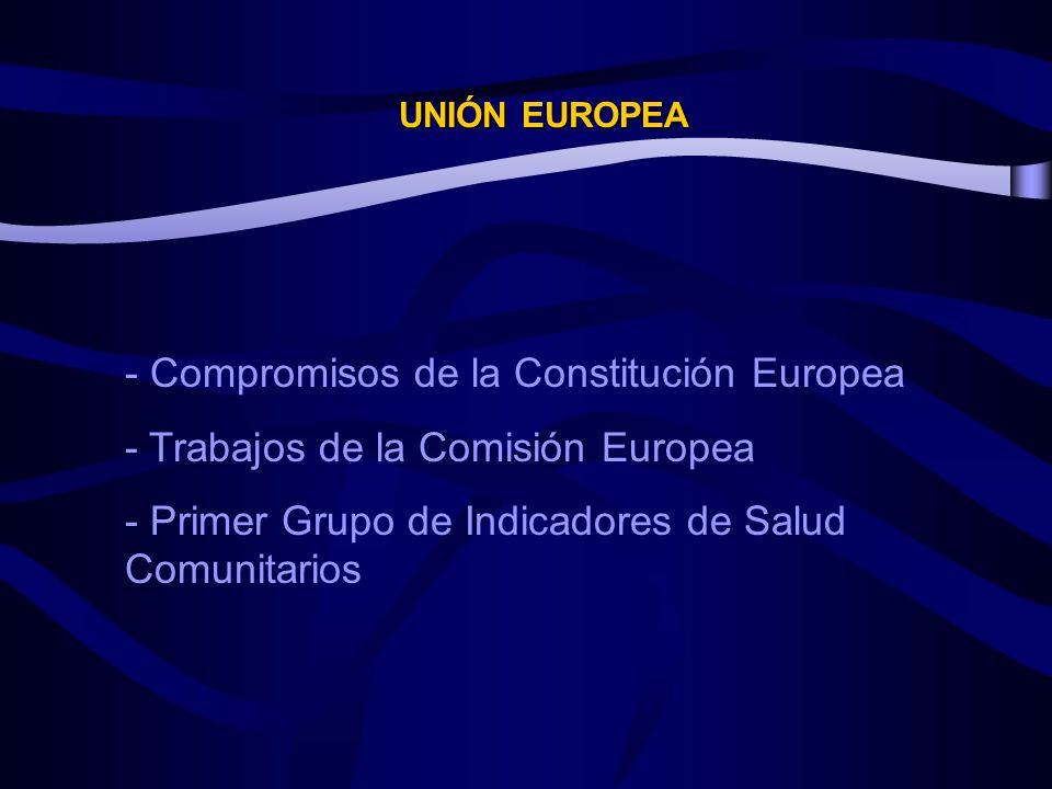 - Compromisos de la Constitución Europea
