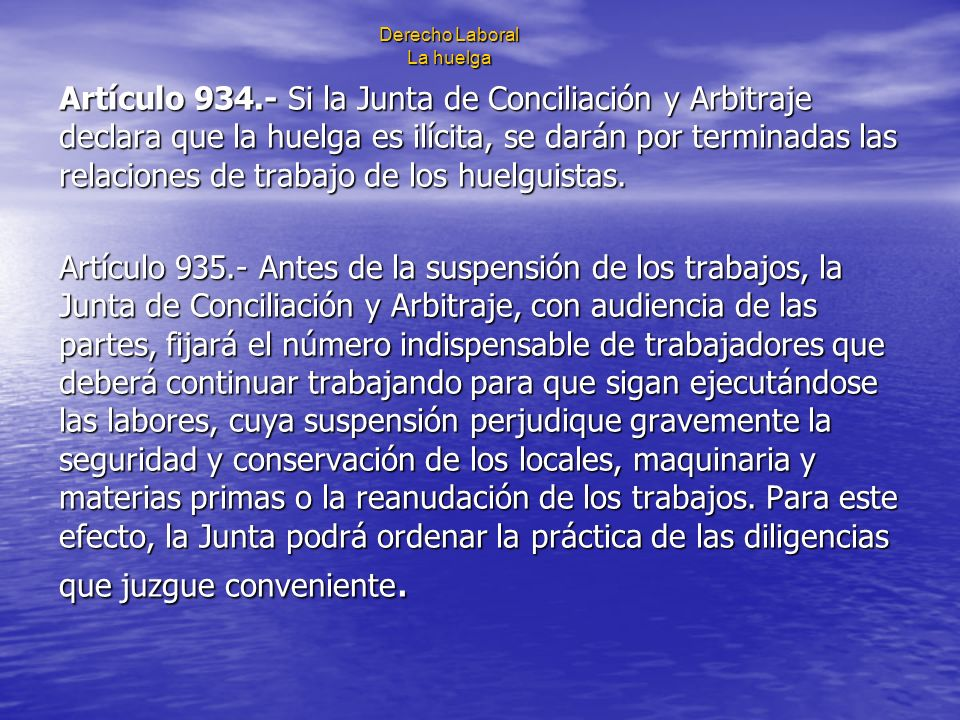 Derecho Laboral La huelga