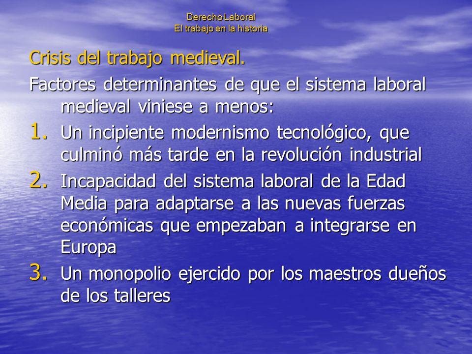 Derecho Laboral El trabajo en la historia