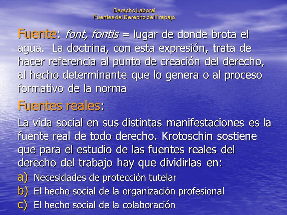 Derecho Laboral Fuentes del Derecho del Trabajo