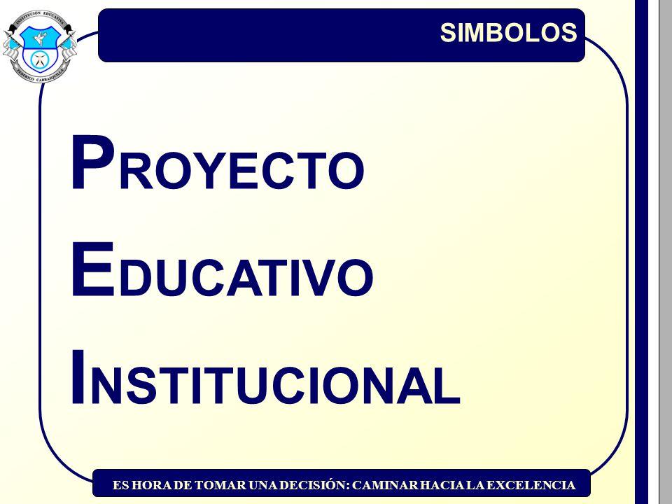 SIMBOLOS PROYECTO EDUCATIVO INSTITUCIONAL