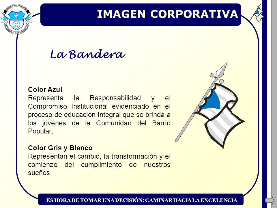 IMAGEN CORPORATIVA La Bandera Color Azul