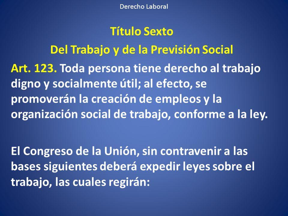 Del Trabajo y de la Previsión Social