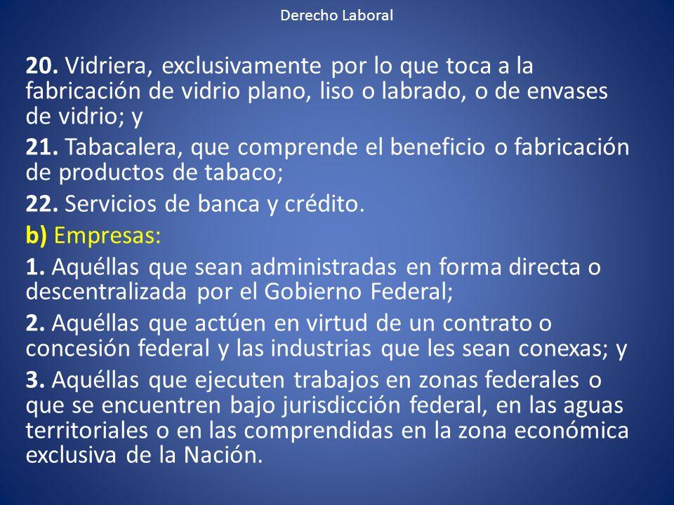 22. Servicios de banca y crédito. b) Empresas: