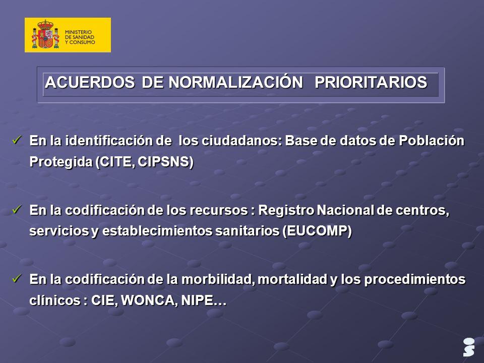 ACUERDOS DE NORMALIZACIÓN PRIORITARIOS