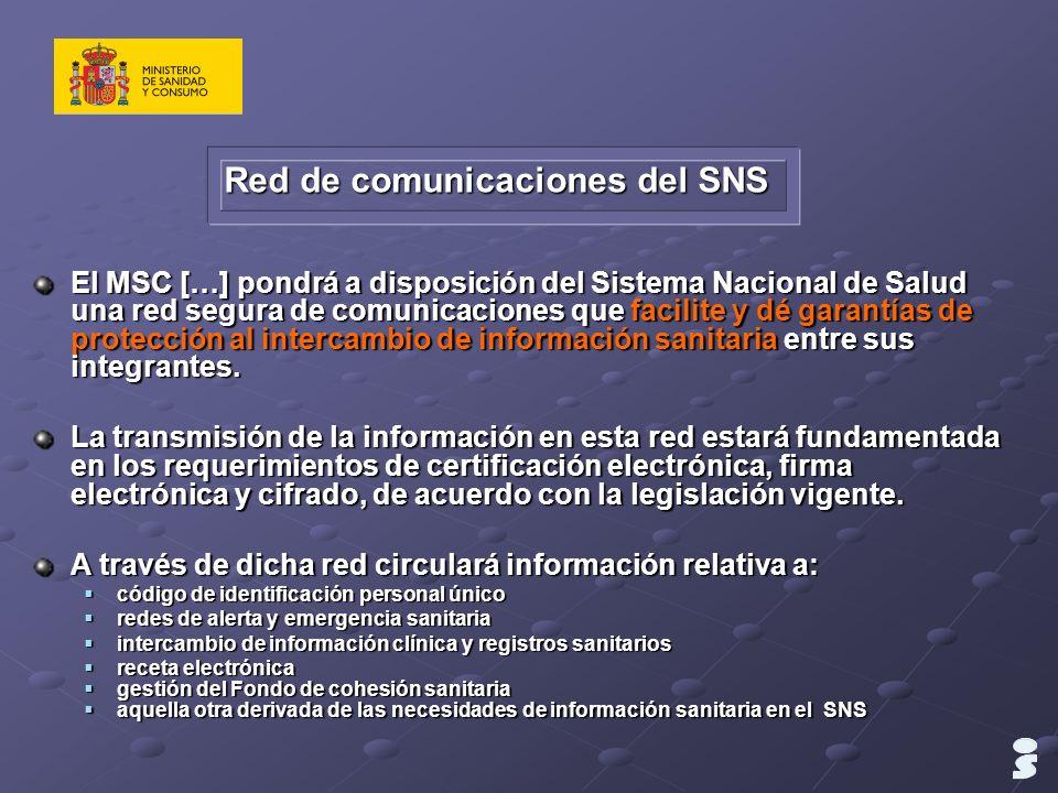 Red de comunicaciones del SNS