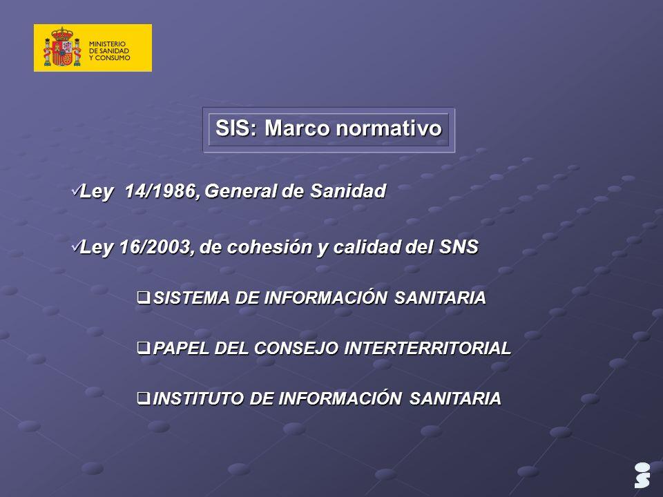 SIS: Marco normativo Ley 14/1986, General de Sanidad