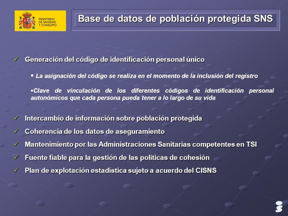 Base de datos de población protegida SNS