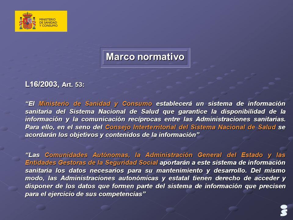 Marco normativo L16/2003, Art. 53: