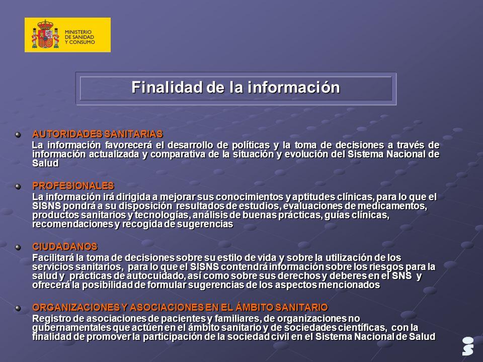 Finalidad de la información