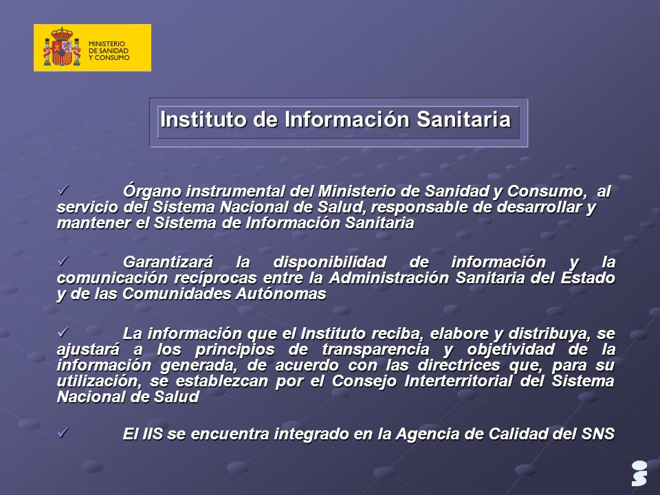 Instituto de Información Sanitaria