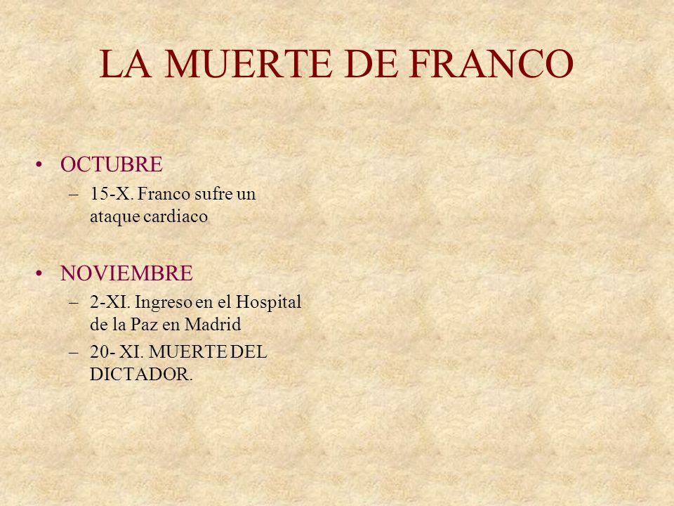 LA MUERTE DE FRANCO OCTUBRE NOVIEMBRE