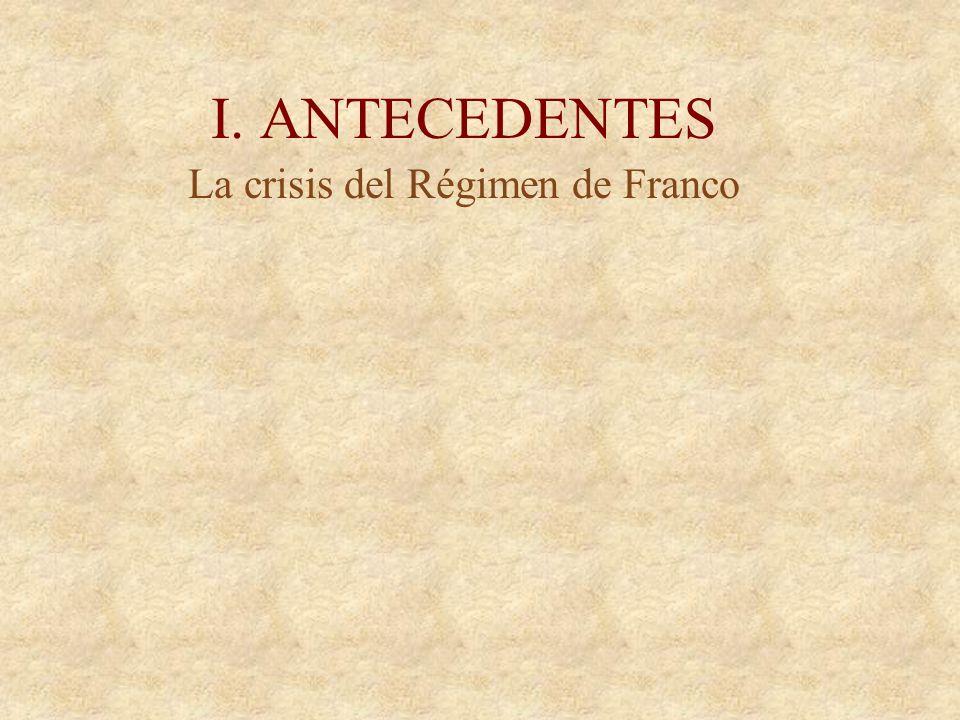 La crisis del Régimen de Franco