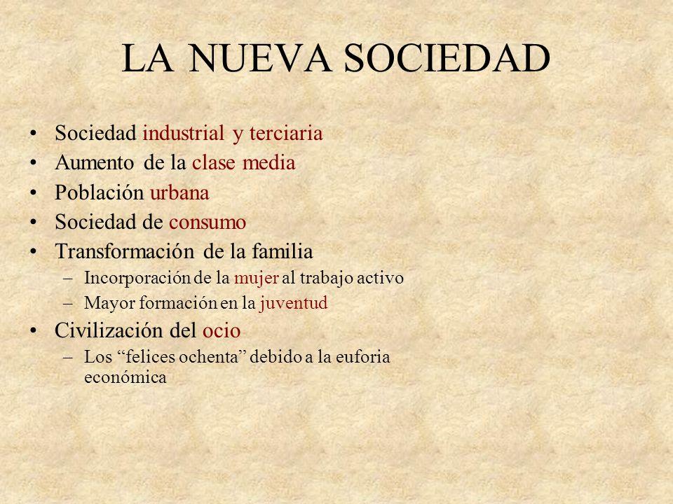 LA NUEVA SOCIEDAD Sociedad industrial y terciaria