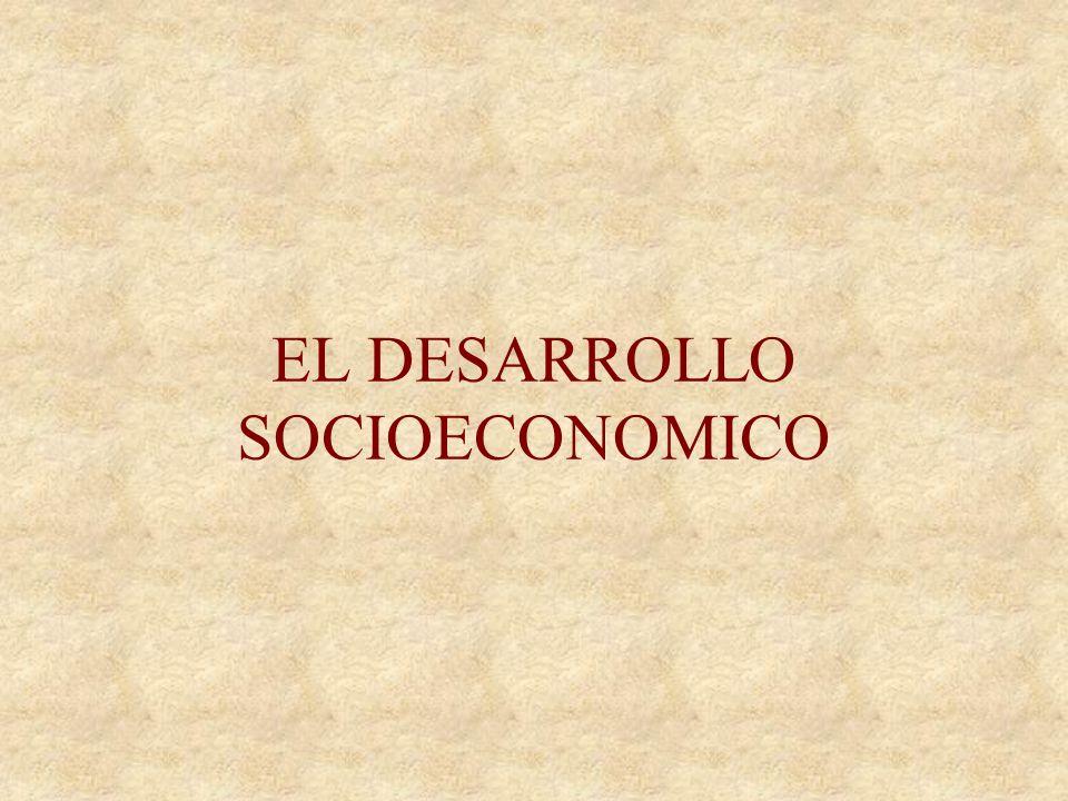 EL DESARROLLO SOCIOECONOMICO
