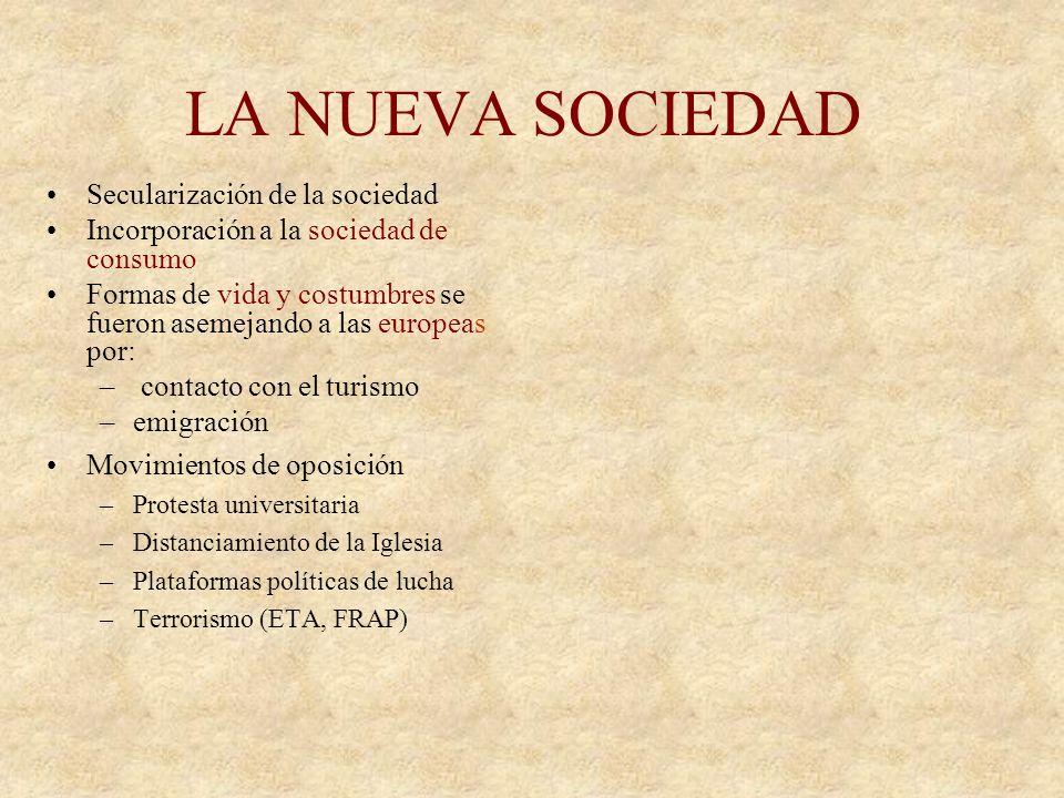 LA NUEVA SOCIEDAD Secularización de la sociedad