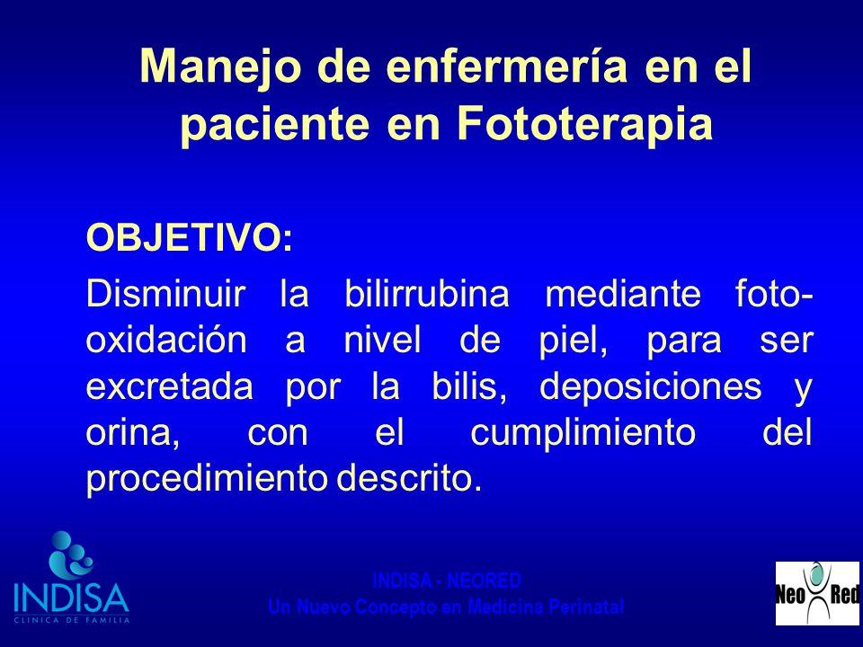 Manejo de enfermería en el paciente en Fototerapia