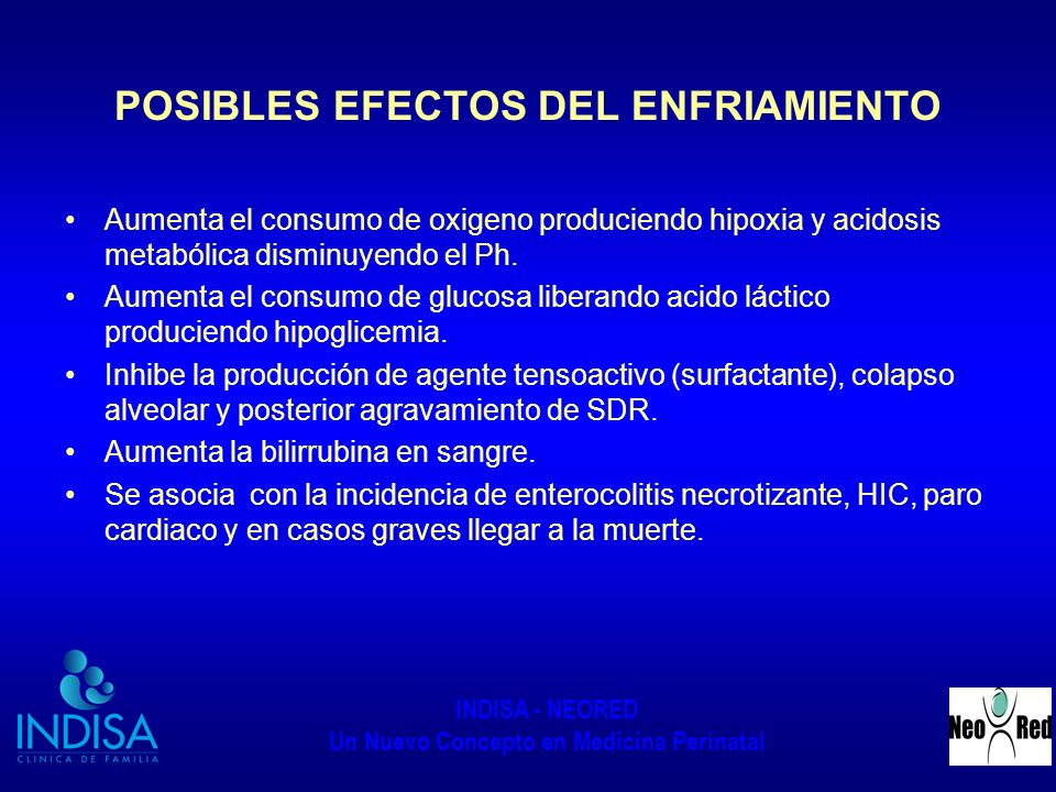 POSIBLES EFECTOS DEL ENFRIAMIENTO