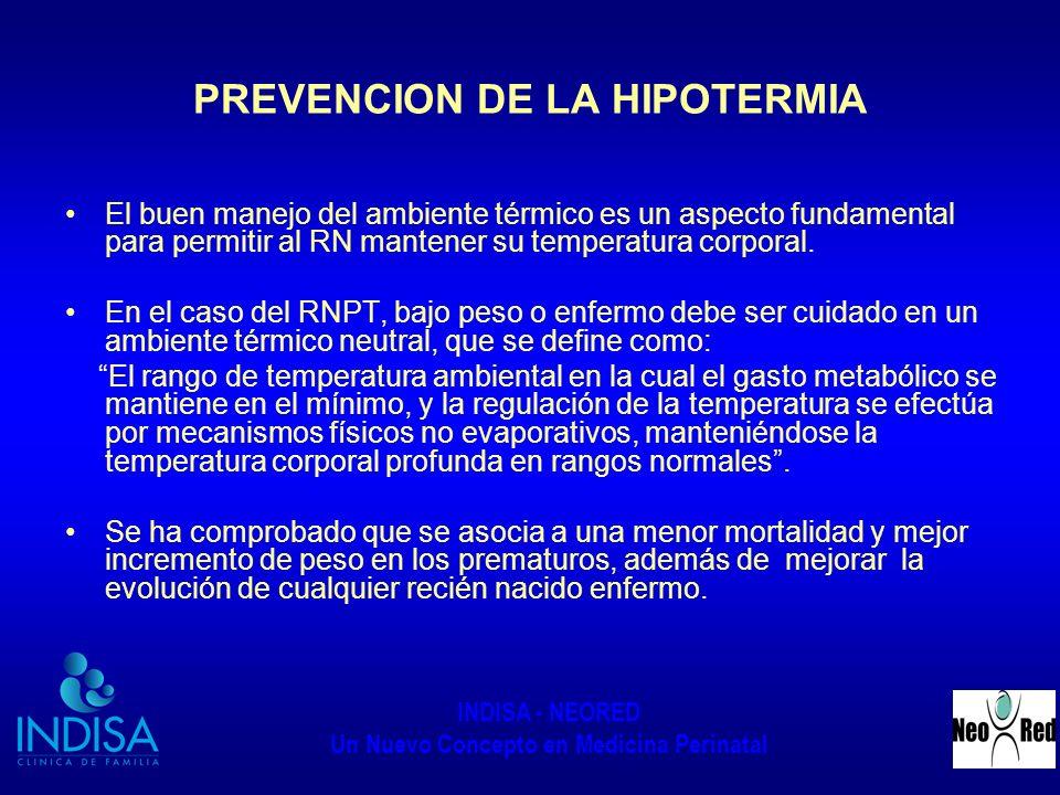 PREVENCION DE LA HIPOTERMIA