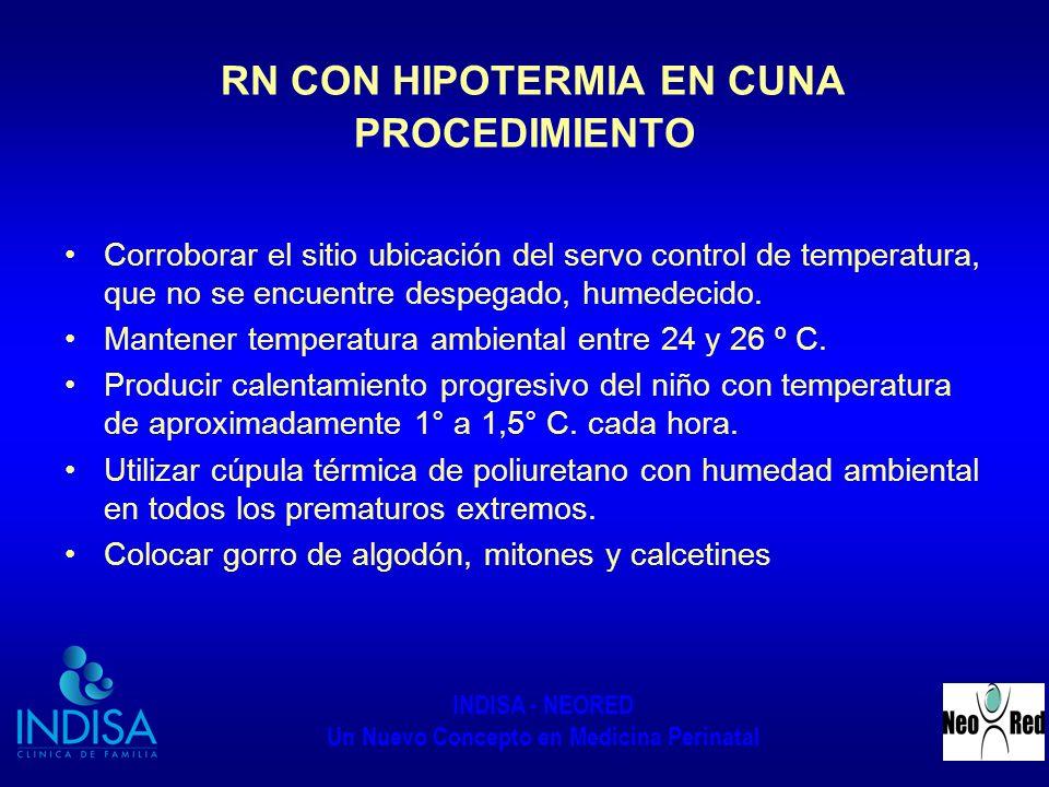 RN CON HIPOTERMIA EN CUNA PROCEDIMIENTO