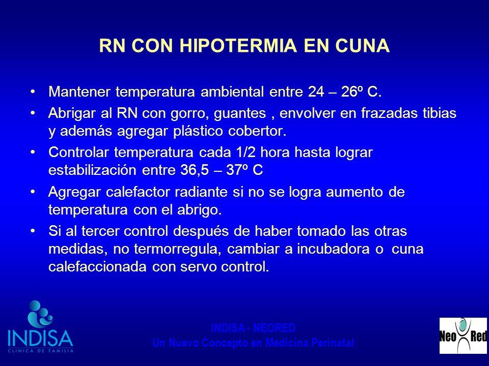 RN CON HIPOTERMIA EN CUNA