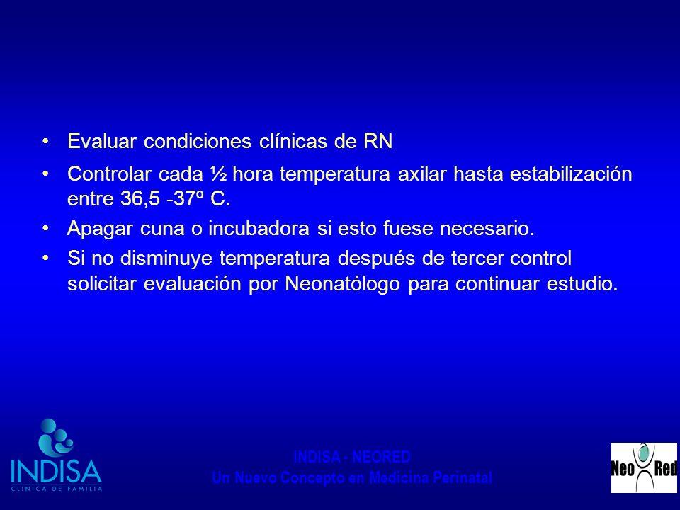 Evaluar condiciones clínicas de RN
