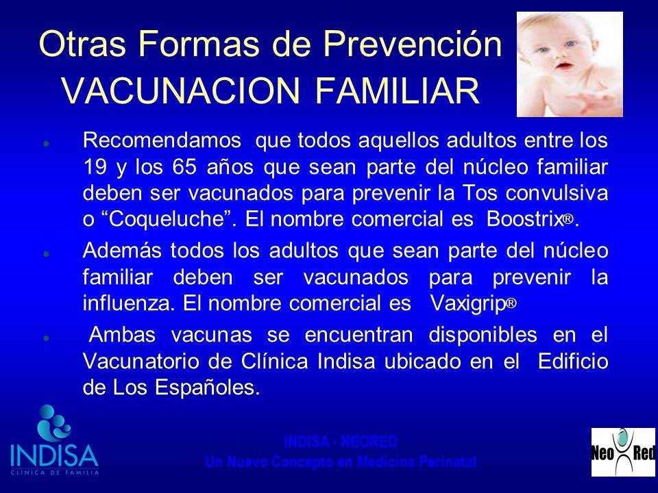Otras Formas de Prevención VACUNACION FAMILIAR