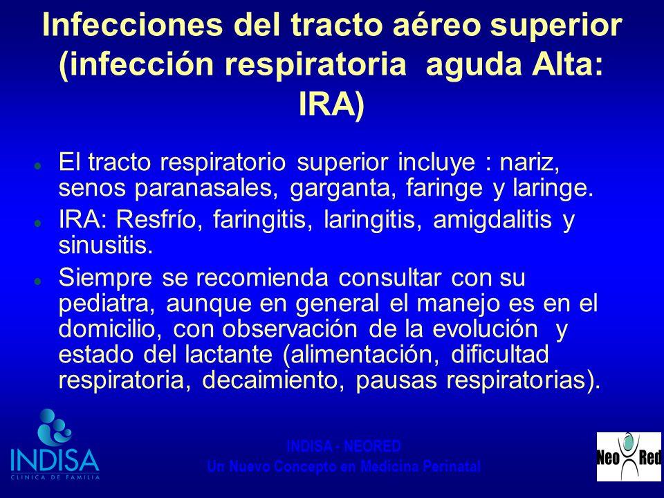 Infecciones del tracto aéreo superior (infección respiratoria aguda Alta: IRA)