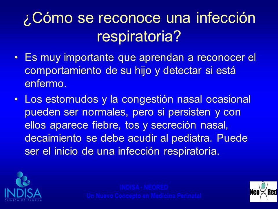 ¿Cómo se reconoce una infección respiratoria