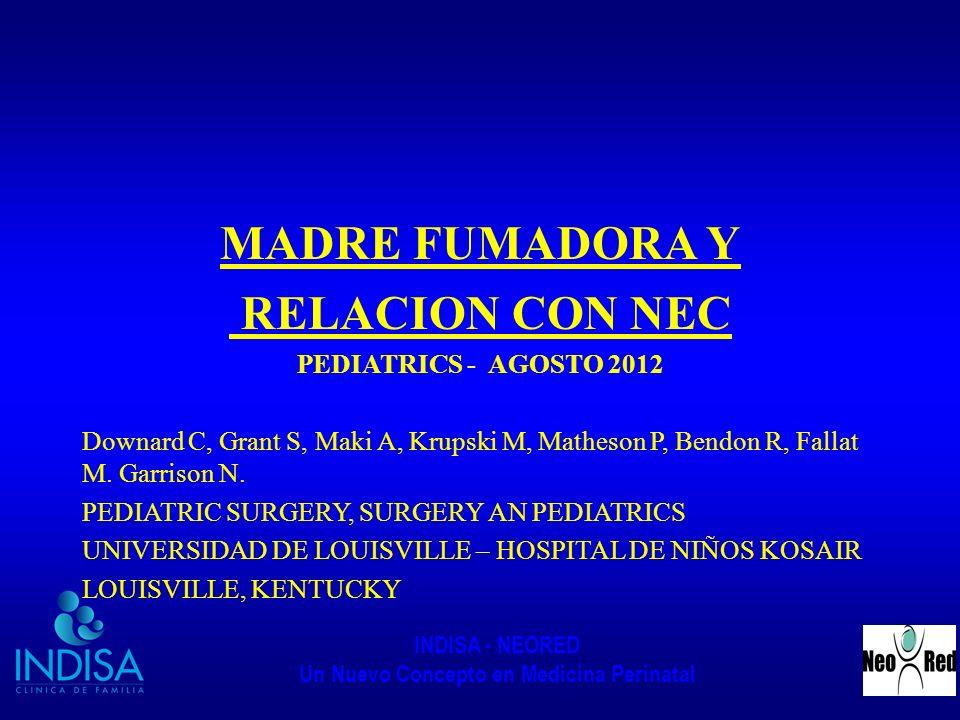 MADRE FUMADORA Y RELACION CON NEC