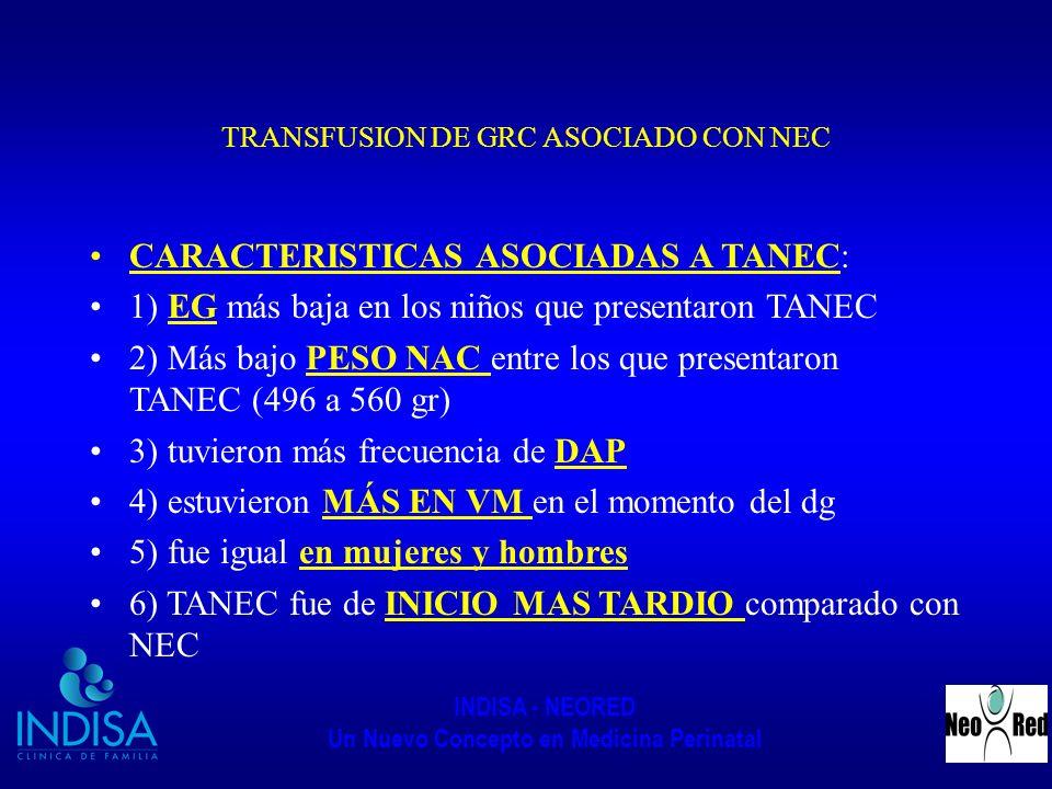 TRANSFUSION DE GRC ASOCIADO CON NEC