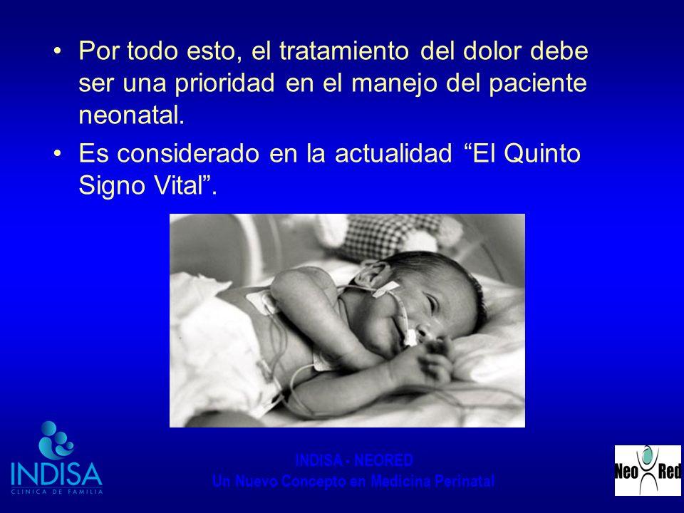 Por todo esto, el tratamiento del dolor debe ser una prioridad en el manejo del paciente neonatal.