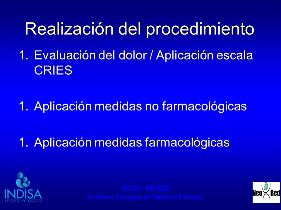 Realización del procedimiento
