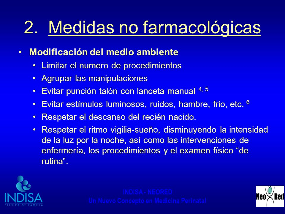 2. Medidas no farmacológicas