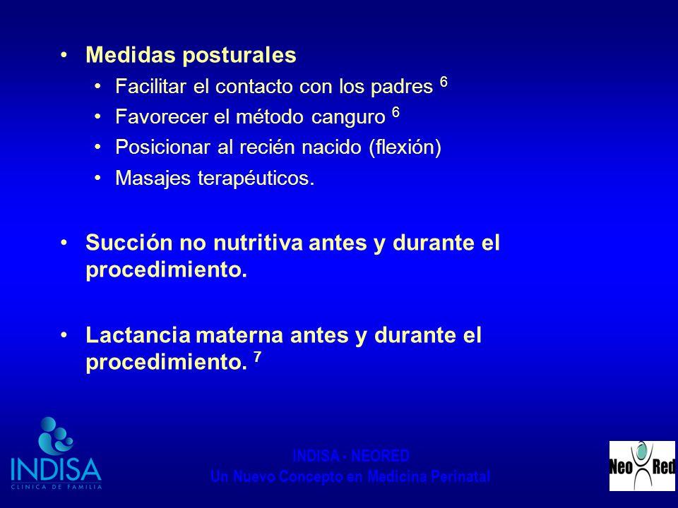 Succión no nutritiva antes y durante el procedimiento.