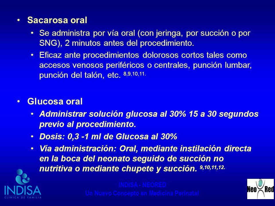 Sacarosa oral Glucosa oral