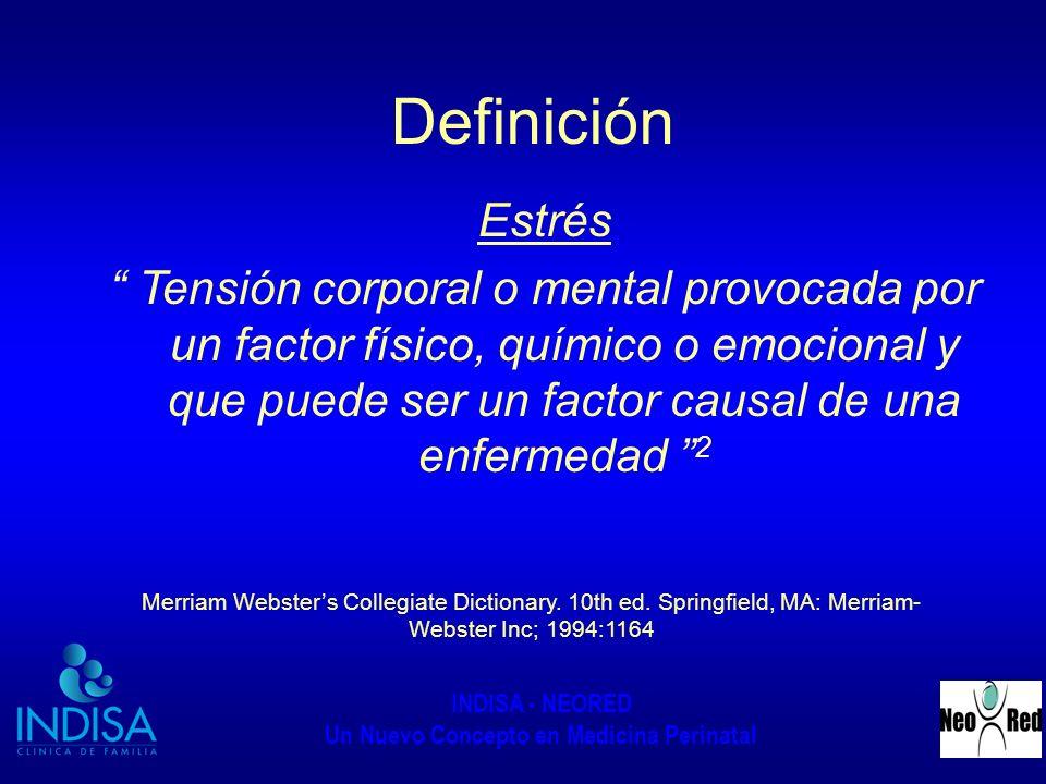 Definición Estrés.