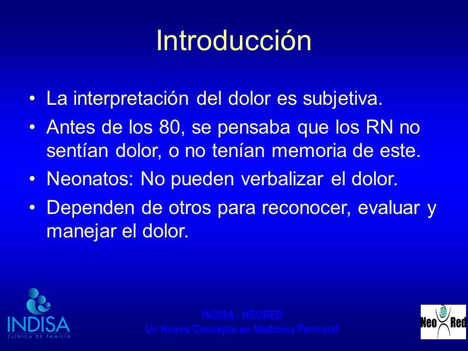 Introducción La interpretación del dolor es subjetiva.