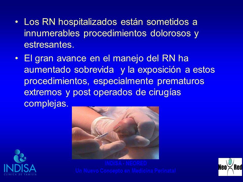 Los RN hospitalizados están sometidos a innumerables procedimientos dolorosos y estresantes.
