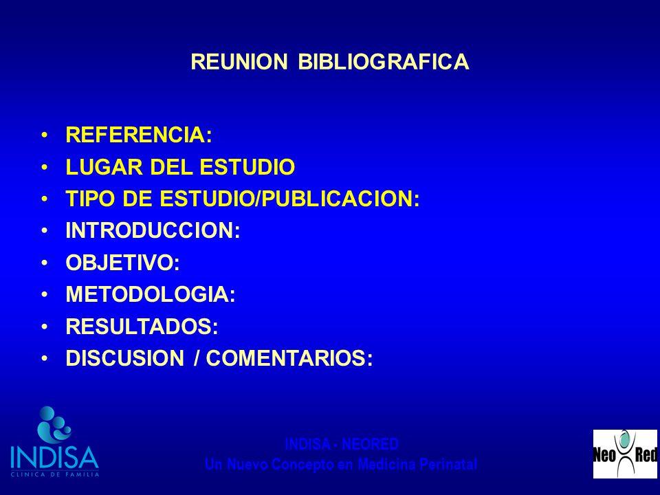 REUNION BIBLIOGRAFICA
