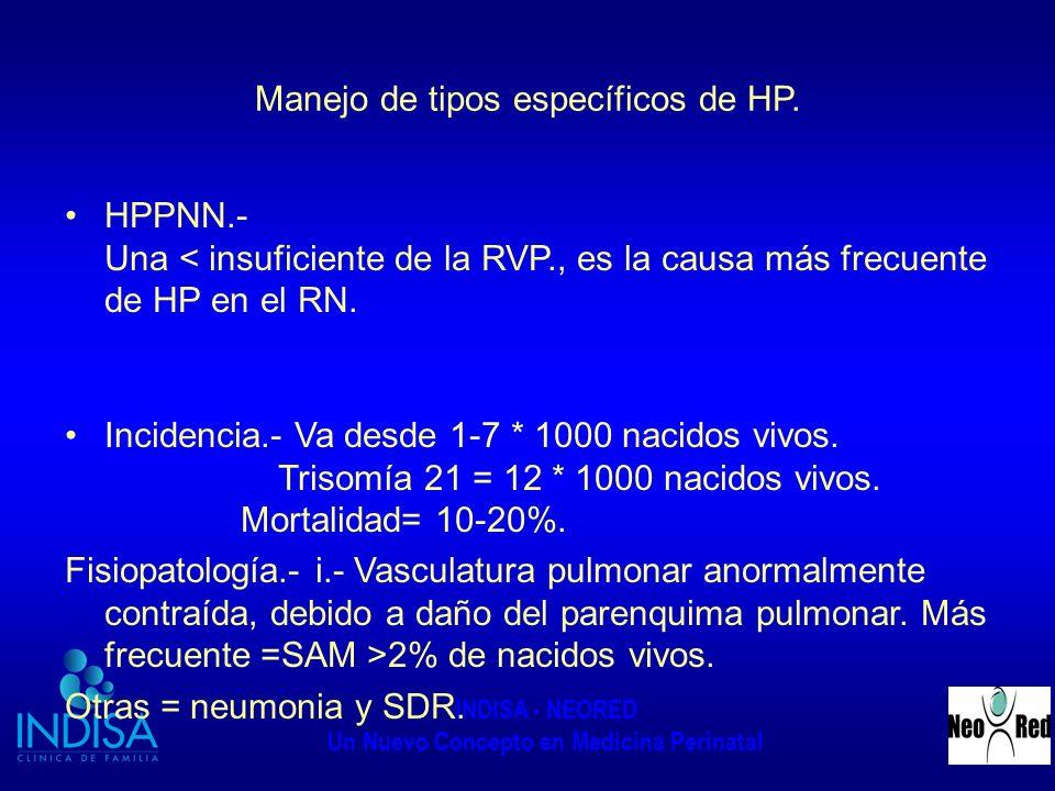 Manejo de tipos específicos de HP.