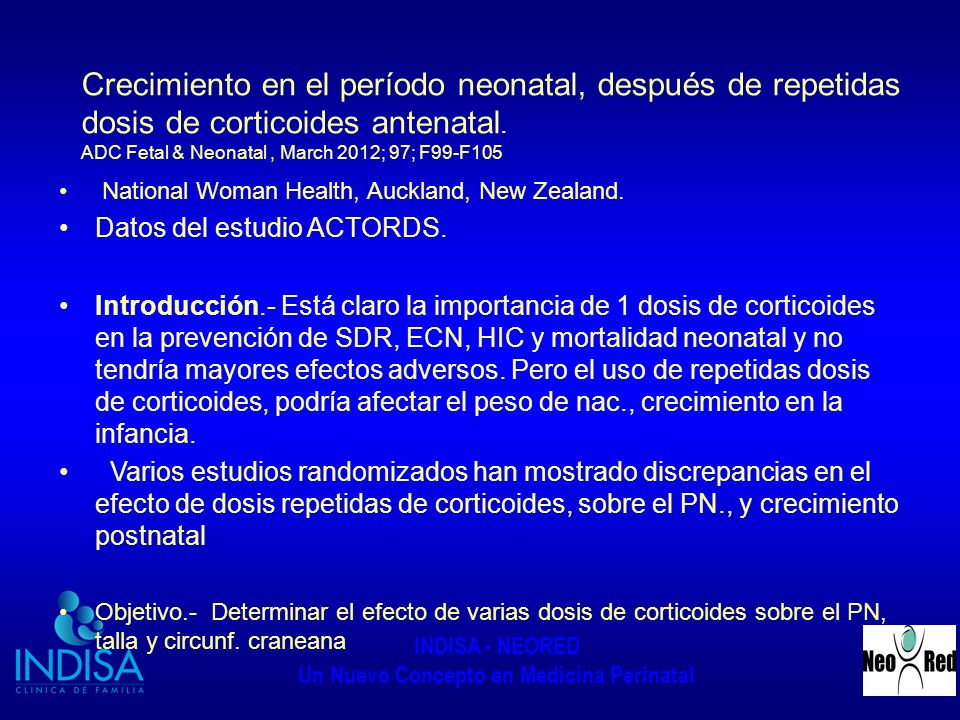 Datos del estudio ACTORDS.