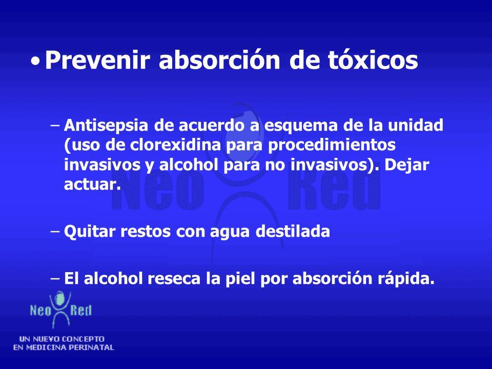 Prevenir absorción de tóxicos
