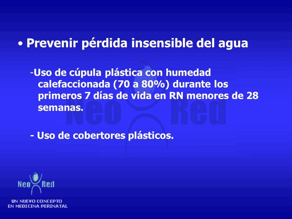 Prevenir pérdida insensible del agua