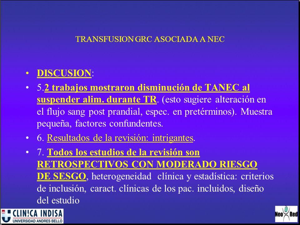 TRANSFUSION GRC ASOCIADA A NEC
