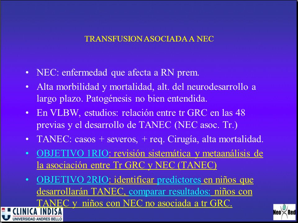 TRANSFUSION ASOCIADA A NEC