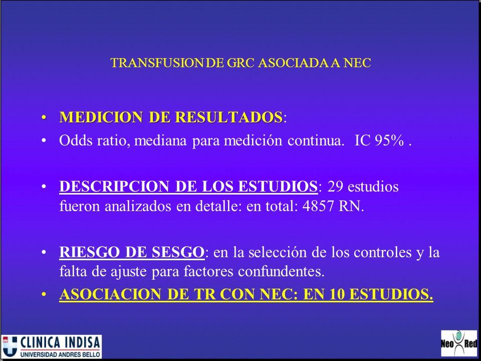 TRANSFUSION DE GRC ASOCIADA A NEC