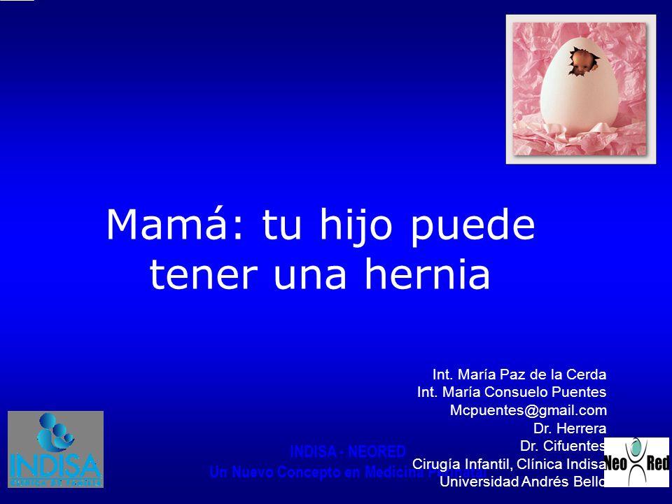 Mamá: tu hijo puede tener una hernia